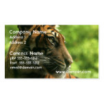 Tiger Profile Business Cards