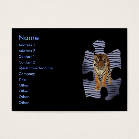 Tiger Profile Card