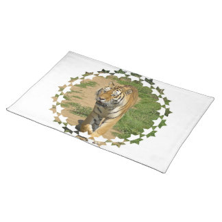 Tiger Prowl Placemat Cloth Place Mat