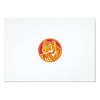 Tiger Prowling Head Circle Retro Card