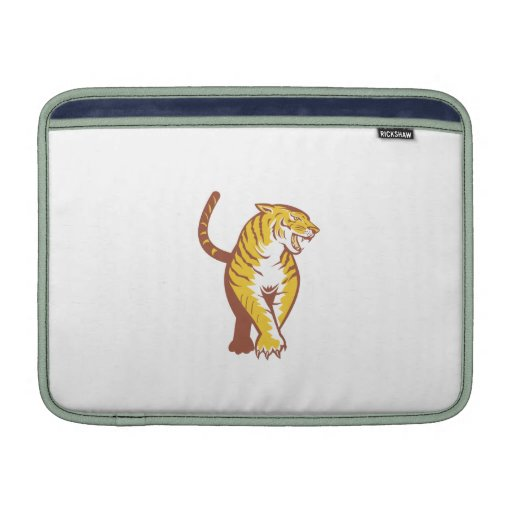 Tiger Prowling Retro Sleeve For MacBook Air