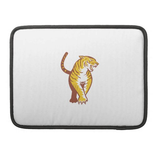 Tiger Prowling Retro Sleeves For MacBooks