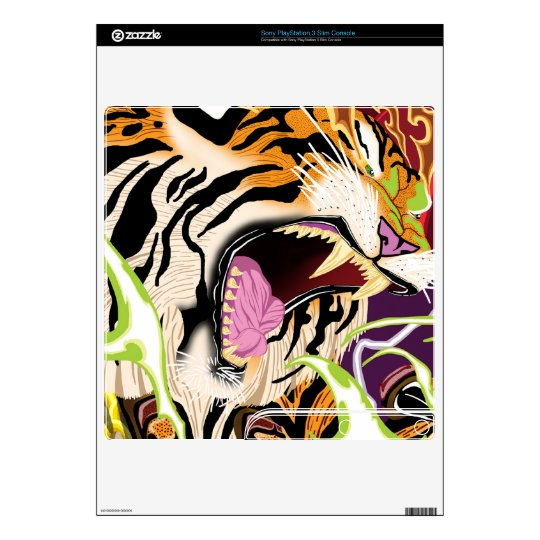 Tiger PS3 Slim Skin