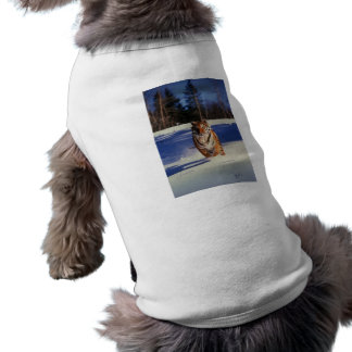 Tiger Racing Over Snow Pet Clothing