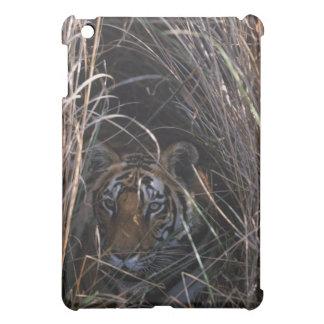 Tiger Reclines in Tall Grass iPad Mini Covers