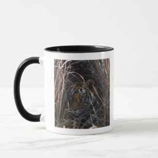 Tiger Reclines in Tall Grass Mug