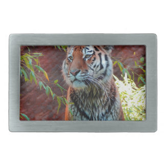 Tiger Rectangular Belt Buckle