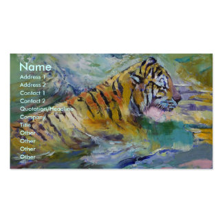 Tiger Reflections Business Card Template