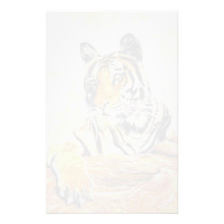 Tiger relaxing art stationery