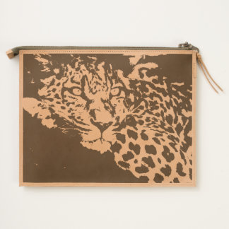 Tiger Relaxing Leather Pouch
