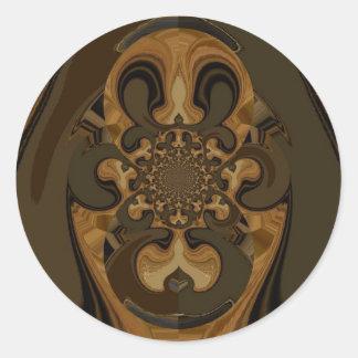 Tiger  Retro Graphics Hakuna Matata Gifts Classic Round Sticker