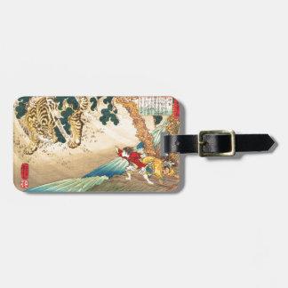 Tiger, River & Children (Utagawa Kuniyoshi) Bag Tags