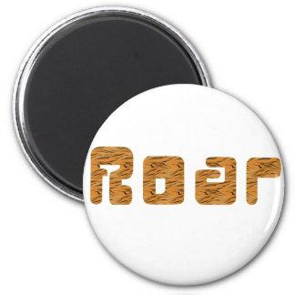 tiger roar 2 inch round magnet