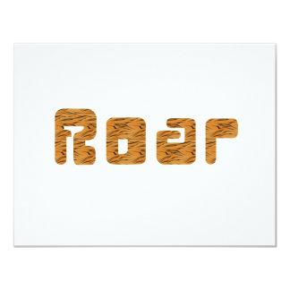 tiger roar 4.25x5.5 paper invitation card