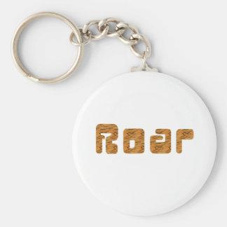 tiger roar basic round button keychain