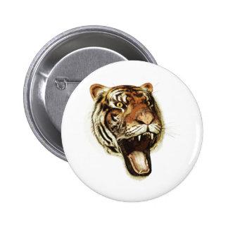 Tiger Roar Pinback Button