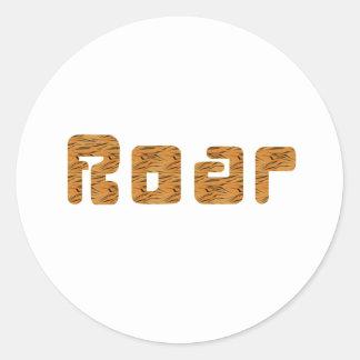 tiger roar classic round sticker
