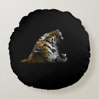 Tiger Roar Round Pillow