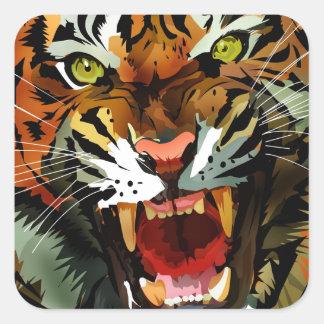 Tiger Roar Square Sticker