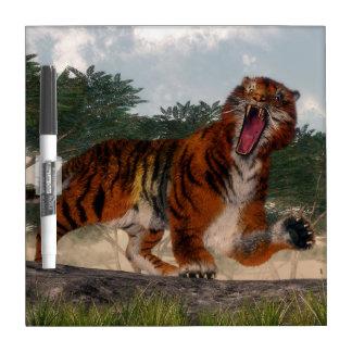 Tiger roaring - 3D render Dry Erase Board