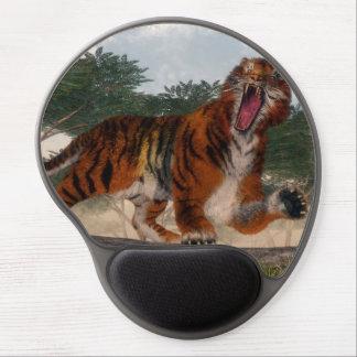 Tiger roaring - 3D render Gel Mouse Pad