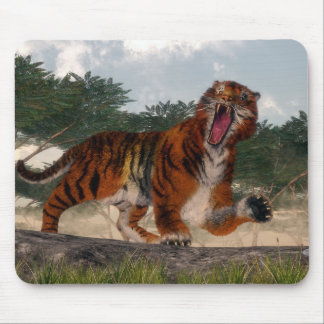 Tiger roaring - 3D render Mouse Pad