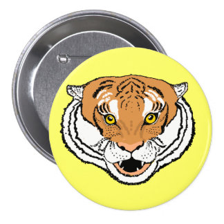 Tiger Roaring Pin back buttons