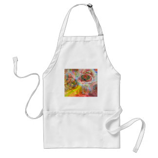 Tiger, roses and good message adult apron