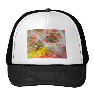 Tiger, roses and good message trucker hat