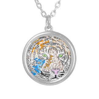Tiger Round Pendant Necklace