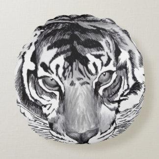 tiger round throw pillow