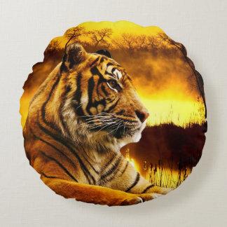 """Tiger Round Throw Pillow 16"""""""