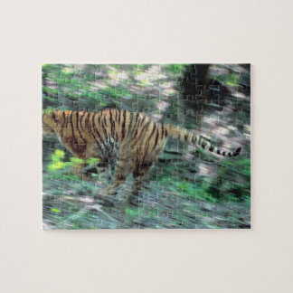 Tiger running jigsaw puzzle