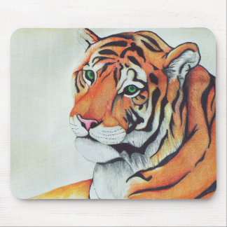 Tiger (Sad Eyes) - Kimberly Turnbull Art Mouse Pad