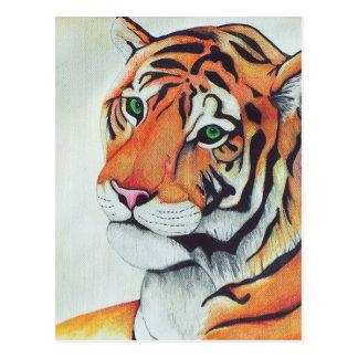 Tiger (Sad Eyes) - Kimberly Turnbull Art Postcard