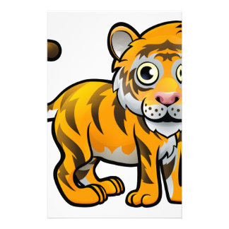 Tiger Safari Animals Cartoon Character Stationery