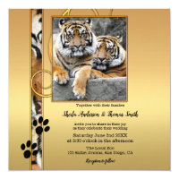 Tiger Safari Zoo Wedding Invitation
