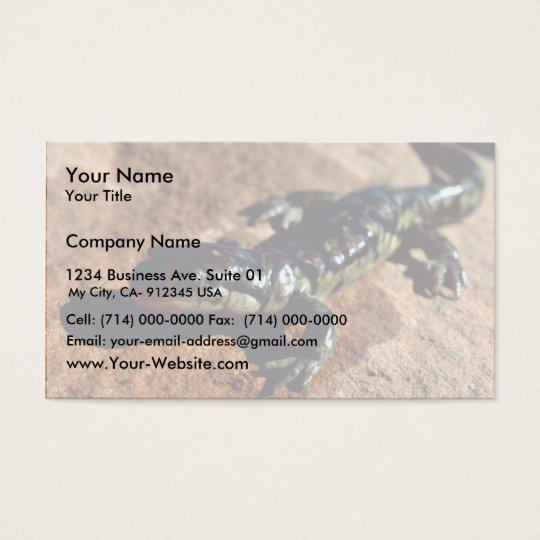 Tiger salamander business card