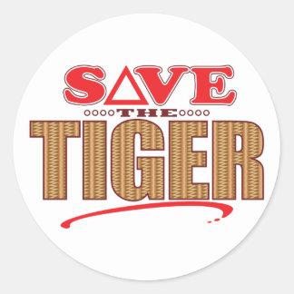 Tiger Save Classic Round Sticker