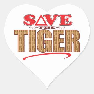 Tiger Save Heart Sticker
