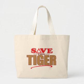 Tiger Save Large Tote Bag