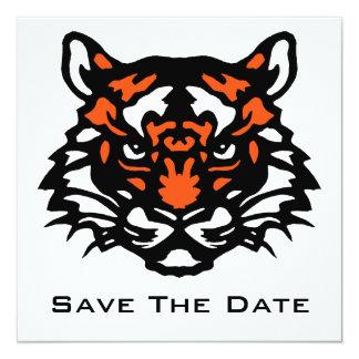 "Tiger Save The Date 5.25"" Square Invitation Card"