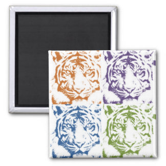 tiger save the tigers 2 inch square magnet