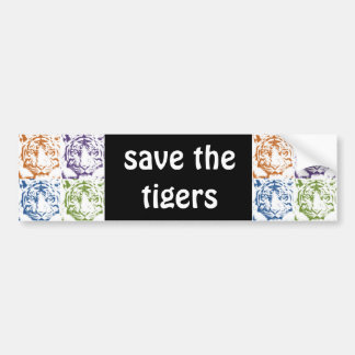 tiger save the tigers bumper sticker