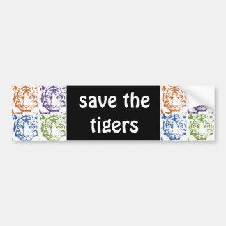 tiger save the tigers car bumper sticker