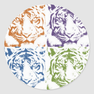 tiger save the tigers classic round sticker