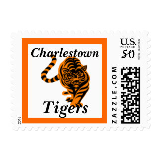 Tiger School Mascot postage stamp