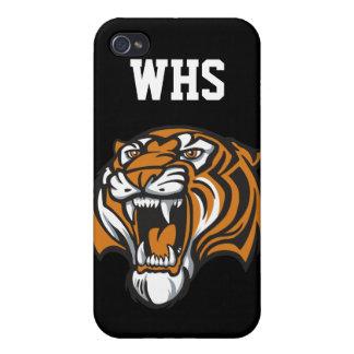 Tiger School Mascot - SRF iPhone 4 Cases