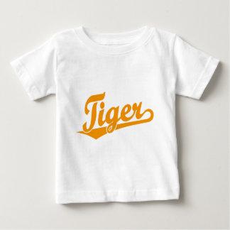 Tiger Script Logo in Orange Baby T-Shirt