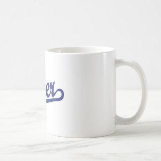 Tiger Script Logo in Orange Coffee Mug